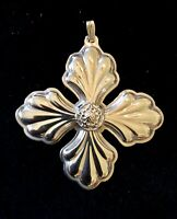 1999 Reed & Barton Christmas Cross Sterling Silver Ornament - 175th Anniversary
