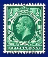 1934 SG439 ½d Green N47(1) Good Used Clear Portrait akdz