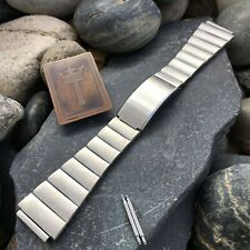 rare LED LCD 19mm BEAR Stainless Steel Vintage Watch Band Unused nos
