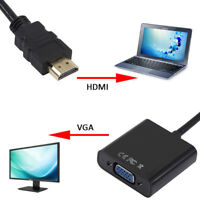 EG_ 1080P HDMI Male to VGA Female Video Converter Adapter Cable for HDTV TV PC W