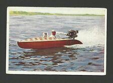 Outboard Motor Boat Racing Vintage 1932 Sanella Sports Card #69