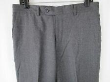 Zignone Wool Cashmere Pants Trousers Dress Slacks Gray Italy Men's Size 33