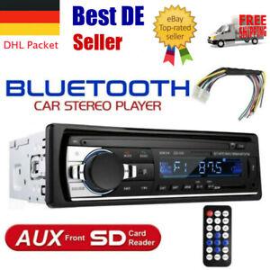 AUTORADIO MIT BLUETOOTH FREISPRECHEINRICHTUNG USB AUX SD MP3 1DIN Fernbedienung