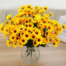 Top 14 Head Fake Sunflower Artificial Silk Flower Bunch Wedding Floral DecorRDUJ