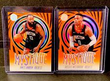 2019-20 Panini NBA Illusions Harden & Westbrook Orange SSP Acetate Mystique Lot