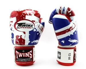 Twins Boxing Gloves Fancy FBGV-44UK UK Flag 8,10,12,14,16 oz Sparring MMA K1