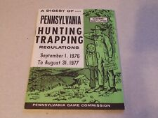 VTG Pennsylvania Hunting Trapping Regulations Digest 1976 1977