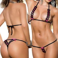 Women Micro Thong Bikini String Swimwear Bikini Stripper Lingerie Nightwear EB