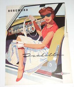 Borgward Isabella 1957 6-Panel Folder Brochure~Print Code X57 Germany~Excellent
