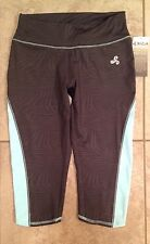 NWT WOMENS CAPRIS M by BIZA RUNNING CYCLING YOGA FITNESS TURQUOISE MSRP$60.00