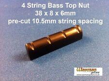 Noir Electric Bass Guitar Top écrou/Bridge 38 x 8 x 6 mm-Uk Fournisseur