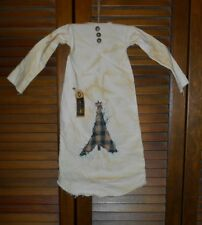 Grungy Primitive Decor CHRISTMAS TREE NIGHTSHIRT Americana,Folk Art,