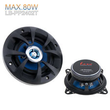 2pcs 88dB 4Inch 2 Way Coaxial 80W Car Speakers Auto Audio Speakers SubWoofer 12V