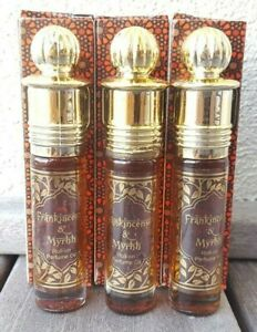 Frankincense & Myrhh Perfume Oil Kamini Triple Strength XXX 8.5 ml Bottle.