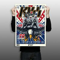 """KISS Spirit of '76 North American Tour 18"""" x 24"""" Limited Edition Serigraph Print"""