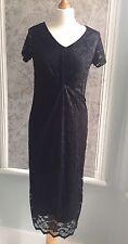 Women's DOROTHY PERKINS MATERNITY Black Lace Smart Formal Dress 10. BNWT