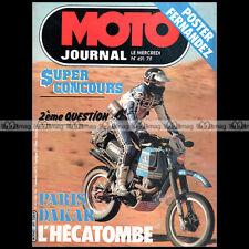 MOTO JOURNAL 491 YAMAHA 350 RDLC NATIONAL FANTIC ITALJET RALLYE PARIS-DAKAR 1981