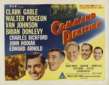 COMMAND DECISION Movie POSTER 22x28 Half Sheet B Clark Gable Walter Pidgeon Van