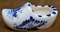 Vintage White Blue Delft Clog  Handpainted Porcelain Ceramic Holland Dutch Shoe