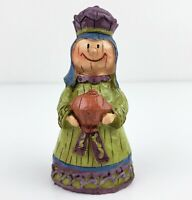 KING WISEMAN GREEN Figurine Mission Gallery Children's Nativity Christmas Creche