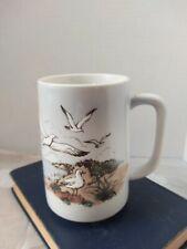 Unmarked Otagiri Or In Style Of Tall Coffee Tea Mug Seagulls Lighthouse Nautical