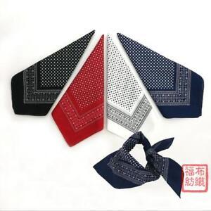 100% Cotton Polka Dot Print Handkerchiefs Square Kerchiefs Bandana Hanky 55*55CM