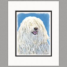 Puli Dog Original Art Print 8x10 Matted to 11x14