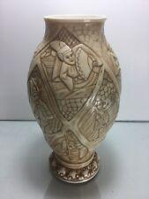 Antique Royal Rudolstadt Porcelain Pitcher VASE Blue RW Faux Ivory Asian