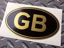"GB Gold & Black Classic Van Car Bumper Sticker Decal 1 off 5"" or 125mm"