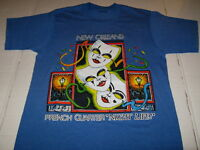 NEW ORLEANS Mardi Gras Masks FRENCH QUARTER Night Life - Vintage 1984 T-Shirt SM