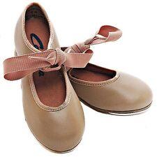 Fits Toddler Size 5.5 Tan Citation Ribbon Tie Tap Shoe Award TS110 Child 6.5M