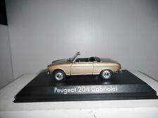 1 43 Norev Peugeot 204 convertible 1967 Creme