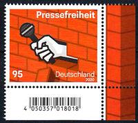 3515 postfrisch Ecke Eckrand rechts unten BRD Bund Deutschland Jahrgang 2020