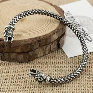 Viking Bear Bracelet Stainless Steel Arm Ring Mens Jewellery Bangle