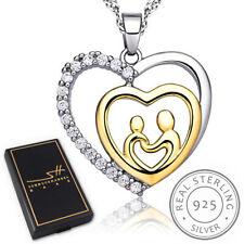 Muttertag Herz Halskette | 925 Silber | Damen | Etui | Schmuckhandel Haak®