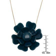Necklace in Yellow Base Metal New Pilgrim Skanderborg, Denmark Blue Flower