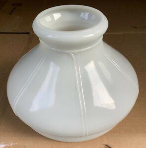 """Vintage Aladdin 701 Style Glass 6 Panel White 10"""" Oil Kerosene Lamp Shade"""
