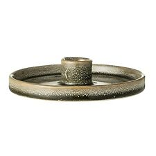 Bloomingville Kerzenhalter rund Keramik grün Kerzenständer Kerzenteller
