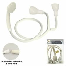 NEW LARGE FITTING DOUBLE TWIN BATH TAP SHOWER SHAMPOO SPRAY HEAD WITH HOSE UK