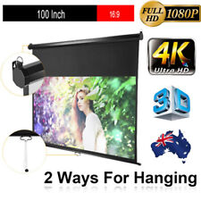 Excelvan 100-inch 16:9 1.2 Gain Wall Ceiling Electric Motorized Projector Screen