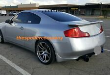 UN-PAINTED REAR SPOILER W3RD BRAKE LIGHT FOR 2003-2007 INFINITI G35 2 DR COUPE