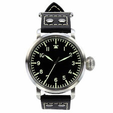 DelTat SoRa WWII Type AS Silver Pilot Watch & Multiple Straps & Transportation C