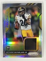 2020 Panini Prizm Anthony McFarland JR RC Rookie Premier Patch #24 Steelers