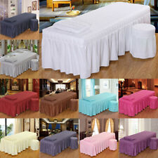 Beauty Massage Linen Table Skirt Facial Tattoo Bed Valance Sheet Stool Cover