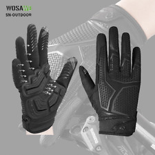 MTB Cycling Gloves Full Finger Shock Absorbing Padded Gloves Touch Screen Mitten