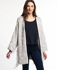 Neuer Damen Superdry Tassel Nomad Kimono Ecru Twist