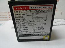 C10AYE1-8 ABBOTT  POWER SUPPLY INPUT 24-30 VDC/OUT 10 VDC-1.8 AMP NEW OLD STOCK