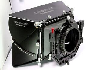 Cine matte box 15mm rod universal for c300 5d a7r bmpcc 6k ursa red epic komodo