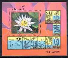 Fleurs Afghanistan (104) bloc oblitéré