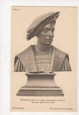 Walnut Bust Of A Man German 1530 British Museum Vintage Postcard 760a